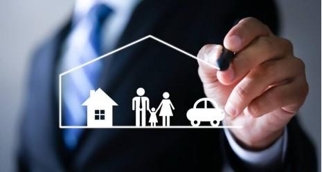 hombre plan familia casa vehiculo
